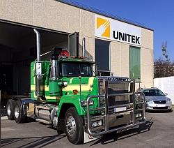 a big green tractor